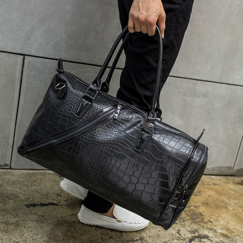 Famous brand men boston handbags high quality alligator leather men travel bags handbags boston style designer men shoulder bags<br>