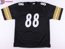 Embroidered Logo Lynn Swann 88 black throwback high school FOOTBALL JERSEY for fans 1228-8(China)