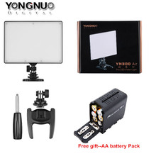 Yongnuo YN300 Air Ultra Thin LED Video Light Panel Lamp + AA Battery Pack for Canon Nikon Sony Pentax Panasonic(China)