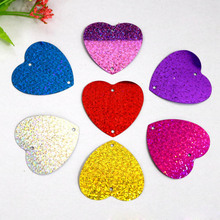 200pcs/lot heart shape Laser light pendants Wedding decorations Event party supplies Balloon weights Christmas decor wholesale(China)