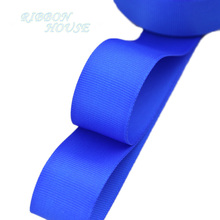 "(5 meters/lot) 1"" (25mm) Royal Blue Grosgrain Ribbon Wholesale gift wrap Christmas decoration ribbons(China)"
