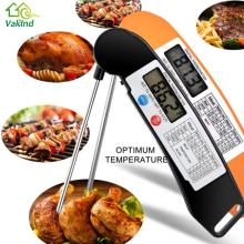 Kitchen Cooking BBQ Digital Probe Meat FoldableTurkey Food Thermometer Digital Food Thermometer Black/Orange