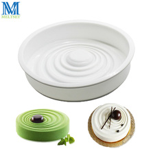 Round Ripples French Cake Mold Non-Stick Silione Mousse Cake Pan Chiffon Moulds Dessert Baking Tools(China)