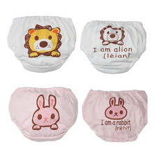4Pcs/Lot Animal Diaper Cloth Pants Training Underwear For Toddler Girls Boys Cotton Kids Baby Children's Clothing Panties