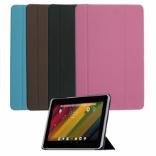 "Ultra-slim Tri-Fold Leather Case Cover Skin Protect Case Cover For 10.1"" HP For Samsung Tablet PC With Smooth Interior Wholesale"