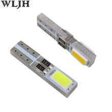 WLJH 20pcs Car Led T5 W3W 5730 SMD Wedge Bulb 37 73 74 12 Instrument Cluster Panel Light  Gauge Dashboard LED Universal