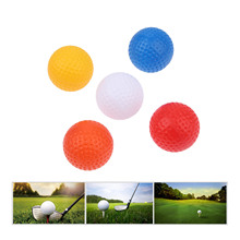 10pcs 41mm Plastic Golf Balls for Indoor Outdoor Sports Golf Practice Balls 5 Colors Training Golf Hollow Balls without Holes