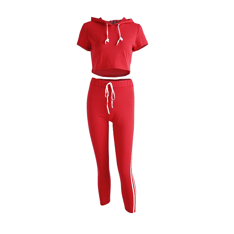 2017 2 pcs., Women's Clothing Patchwork Tracksuit, Crop Top, Tanks And Leggings, Sporting Clothing 18