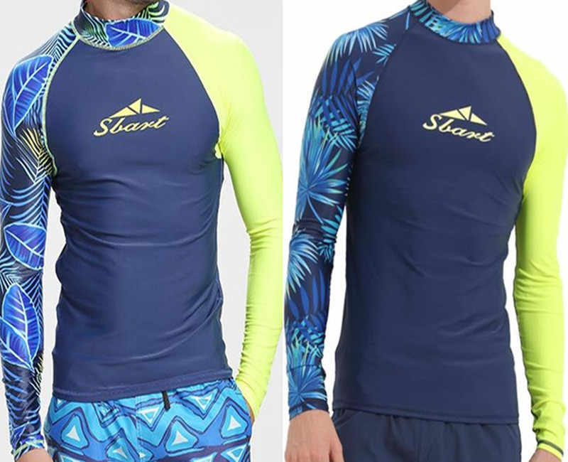 91d0d492aaf9 2018 New Rashguard men swim Tshirt surf diving suit water sportswear  wetsuit sun protection lycra windsurf