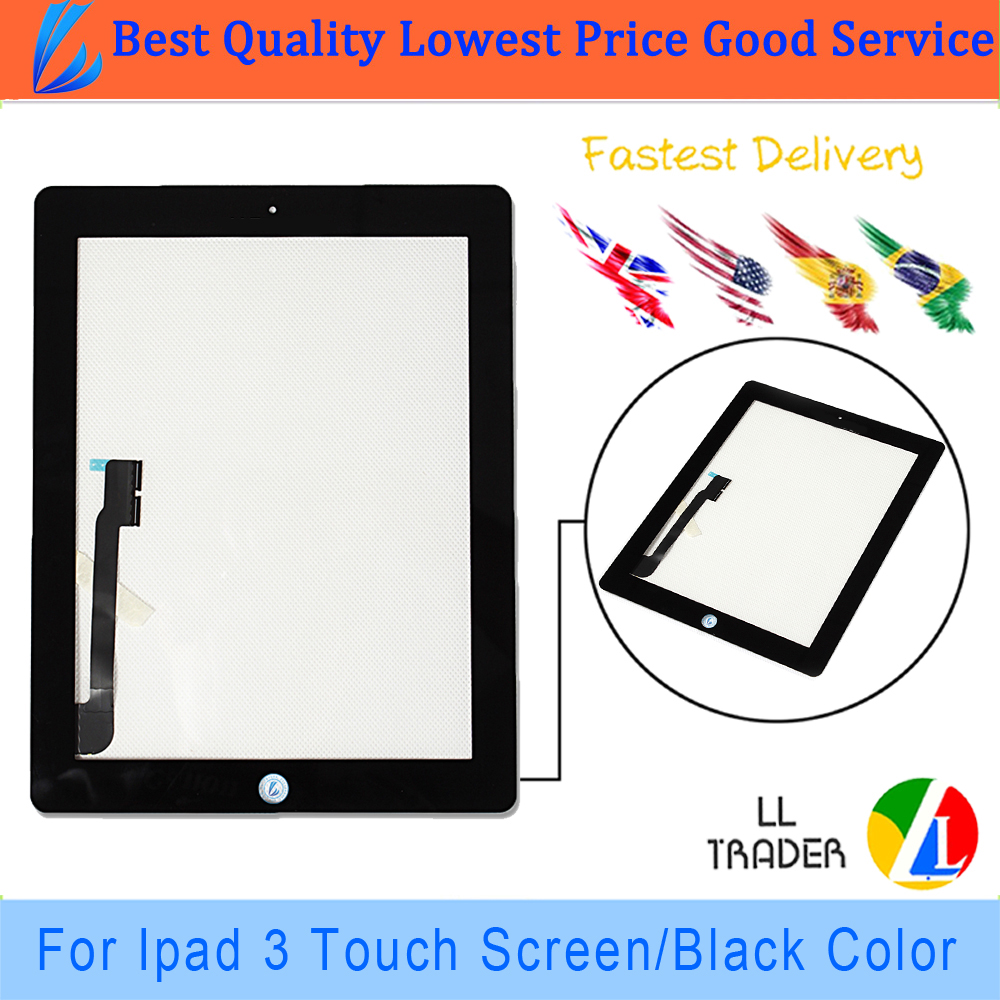 LL TRADER 100% Tested Touch Screen Replacement Tablet Parts For iPad 3 iPad 4 Touch Screen Digitizer Front Glass Assembly+Tools<br><br>Aliexpress