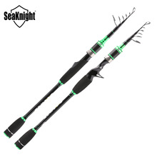 SeaKnight BASHER Lure Fishing Rod 2.1/2.4m Carbon Fiber Spinning Casting Telescopic Travel Portable Rod Salt/Freshwater Fishing