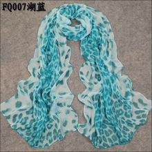 new 2015 leopard scarves designs women thin long georgette chiffon shawl popular printe scarf shawl