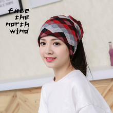pattern Twist type Winter outdoor men women Warm hat Multifunctional cover set Hat thin(China)