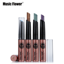 Eye Shadow Pencil Shimmer 12 Colorful Long Lasting Glitter Makeup Eyeshadow Pigment Stick Cosmetic Pen Profession Music Flower