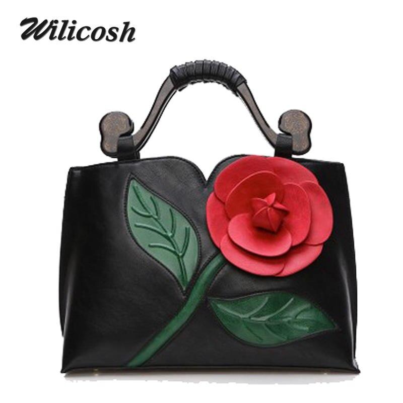 Wilicosh 2017 Women Handbag With Big Rose Flower Summer New Design Female PU Leather Tote Bag Fashion Women Shoulder Bag WL041<br><br>Aliexpress