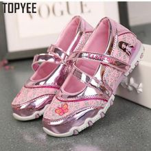 2017 New Summer Autumn Girls Dress Shoes Kids For Children Girls Leather Shoes Princess Fashion Embroidery Net Flat Casual Shoes(China)