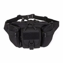 Molle Tactical Men Waist Pack Fanny BELT Climb Bum bag Military Equipment outdoor sport bag shipped from United States(China)