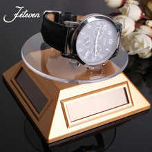 Newest Solar Showcase 360 Turntable Rotating Jewelry Watch Phone Ring Display Stand Turn Table Plate Rack Holder Jeweller Trays