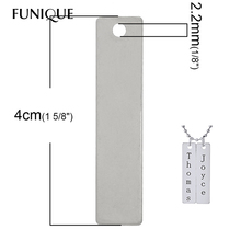 10PCs Stainless Steel Jewelry Findings Stamping Blanks Dog Tags Pendants Silver Tone Charm Pendant For Necklaces Jewelry Making