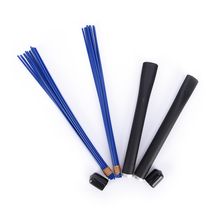 1Pc Jazz Drum Brushes Retractable Drum Sticks 32cm Black/blue(China)