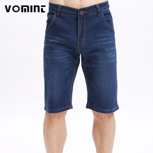 VOMINT 2017 New Summer Mens Denim Shorts Slim Knee Length Casual Business Short Elasticity Jeans Stretch Cotton Fabric Hot Sale(China)