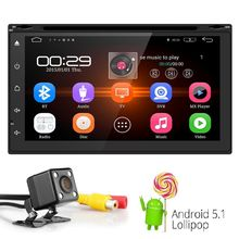 "RDS DVBT Android 5.1 4G WIFI 7"" Double 2DIN Car Radio Stereo DVD Player GPS Nav steering wheel OBD2 Front USB/DVR Camera SD DAB"