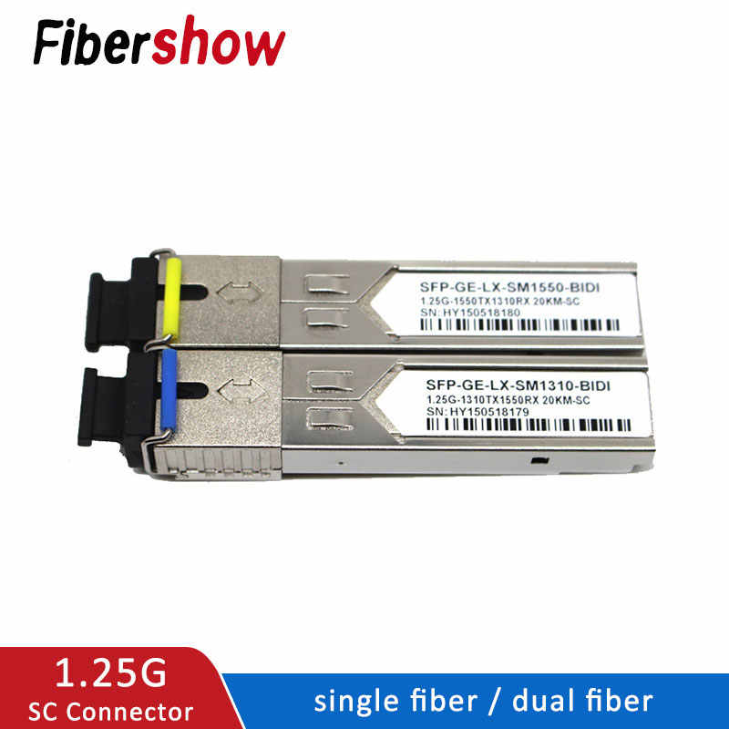 SFP Module SC connector 1.25G SC BiDi 1310nm/1550nm WDM switch SFP Transceiver module with Switch with DDM Function