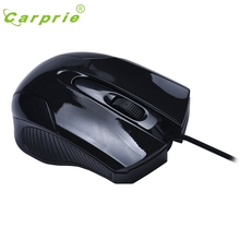 CARPRIE Fashion 1000 DPI USB Wired Optical Gaming Mice Mouse For PC Laptop BK Mar7 MotherLander(China)