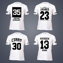 2017 tide brand short sleeve T-shirt LeBron James Kevin Durant Stephen Curry James Harden the champion MVP Tops jersey Tees