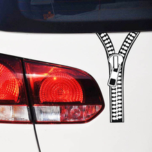 Clothes Zipper Car Stickers Current Fashion Car Refit Car Motorcycle decor accessories Styling 19*9cm(China)
