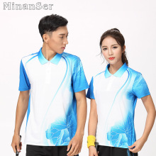 Free Custom Name Badminton wear shirt Women/Men's , sports Tennis shirt , Table Tennis shirt , Quick dry sportswear shirt 8809(China)