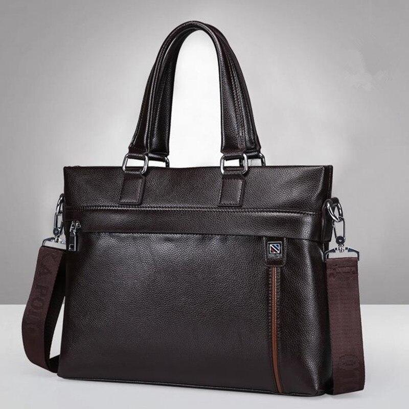 2017 new men s handbags casual cowhide men briefcase computer bag portable shoulder bag kabelka wholesale<br><br>Aliexpress