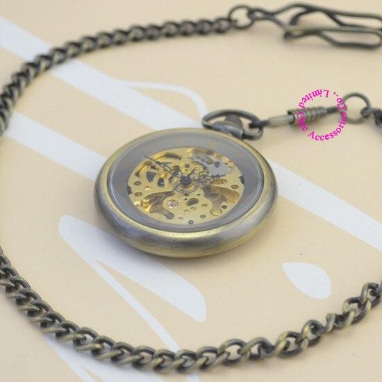 wholesale new fashion good quality vintage retro antique bronze father men gift steampunk mechanical pocket watch hour<br><br>Aliexpress
