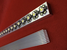 30cm High Power LED Heatsink Grille shape 300mm*25mm*12mm Good heat dissipation aluminum