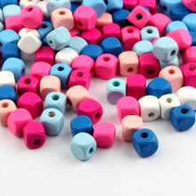 Buy 100pcs Wooden Spacer Beading Beads Baby Toys Bracelet Necklace DIY Crafts Kids Toys & Pacifier Clip Square Wood 10mm for $2.39 in AliExpress store