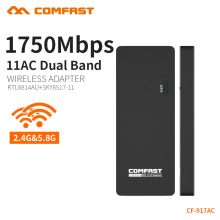 COMFAST 1700Mbps gigabit Wifi Adapter 11AC Dual Band 2.4Ghz + 5Ghz Wifi Dongle High Power Wifi Receiver 2pcs CF-917AC(China)