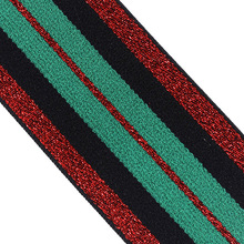 3yard 47mm Green Red Elastic Stretch Ribbon Band Lace Trim Tape Webbing Belt Strap Craft Sewing Accessories T2405