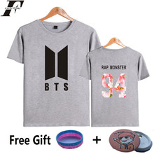 LUCKYFRIDAYF BTS K-pop T Shirt Women/men Casual Popular Bangtan Hip Hop Fans Tee Shirt Cotton Female Kpop 4XL Woman Tshirt Top(China)
