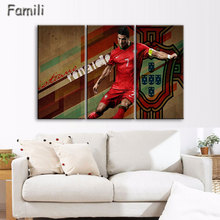 3 Piece Cristiano Ronaldo Football Picture Painting on Canvas for Wall Art Home Decoration Living Room Canvas Print Painting