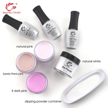 28g/Box French White Dipping Powder No Lamp Cure Nails Dip Powder Red Color Gel Nail Powder Natural Air Dry For Nail Salon