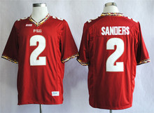 Nike Florida State Seminoles (FSU) Deion Sanders 2 College Ice Hockey Jerseys Red Size M,L,XL,2XL,3XL(China)