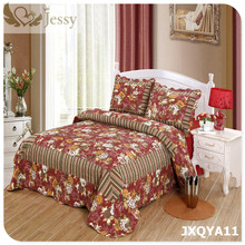 Patchwork Quilt Bed Sheet Set with Two Pillowcase Bedding Set Super King Cotton Padded Lace Mattress Cover Quilted Bedspread(China)