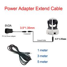 Wifi IP Camera Power Adapter extend Cable of 5V2A 3.5*1.35mm 1meter 3meter 5meter