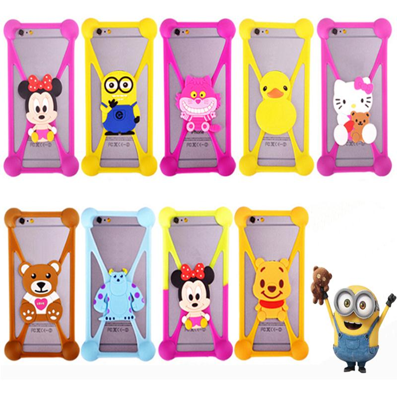 Cute Cartoon Universal Cell Phone Holster Cases Fundas For Blackberry Z10 Case Silicon Coque Cover(China (Mainland))
