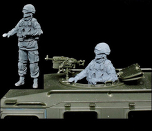 Resin Kits 1/35 Russian tiger armored machine gunner just include one soldier Resin Model DIY TOYS WWII WW2(China)