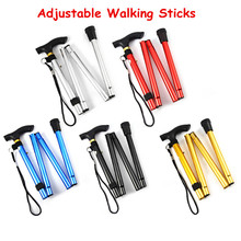 New Design Adjustable Aluminum Alloy Metal Folding Cane Walking Sticks Adjustable Height and Non Slip Rubber Base Walking Stick