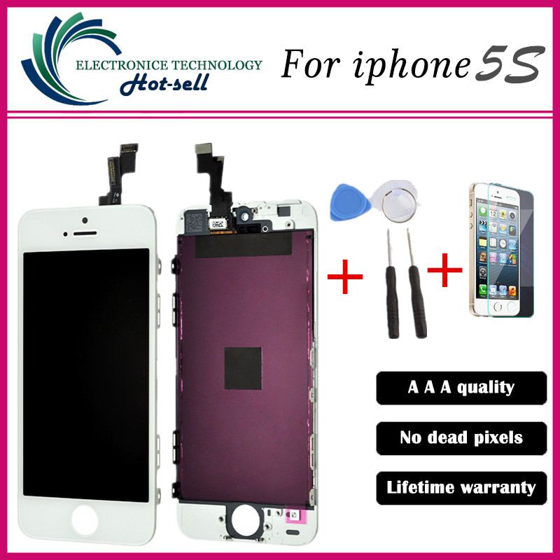 No dead pixels black white LCD ecran for pantalla iphone 5S LCD touch screen digitizer assembly replacement<br><br>Aliexpress