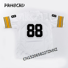 Retro star #88 Lynn Swann Embroidered Throwback Football Jersey(China)