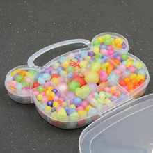 Small Bear Frosted Acrylic Beads Accessories Puzzle Toys Amblyopia Training Kids Diy Necklaces Beads Set Jewelry Making For Kids