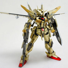 DRAGON MOMOKO Gundam 1/100 MG AKATSUKI 0R8-01 + OOWASHIPACK Gold plating Edition plastic model kits toys